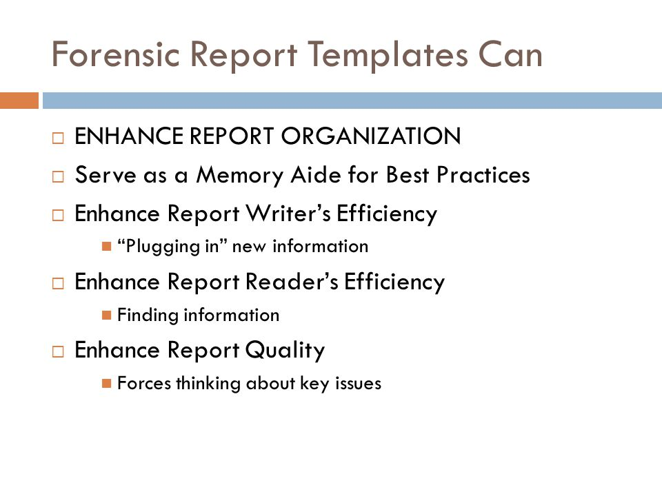 Forensic Report Templates Can