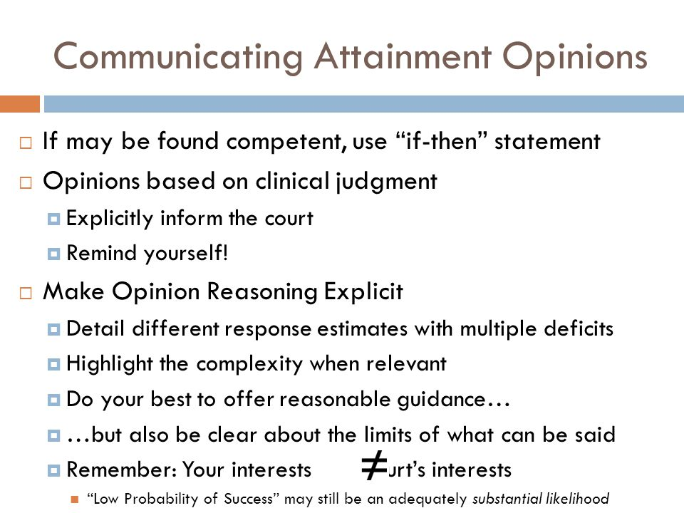 Communicating Attainment Opinions