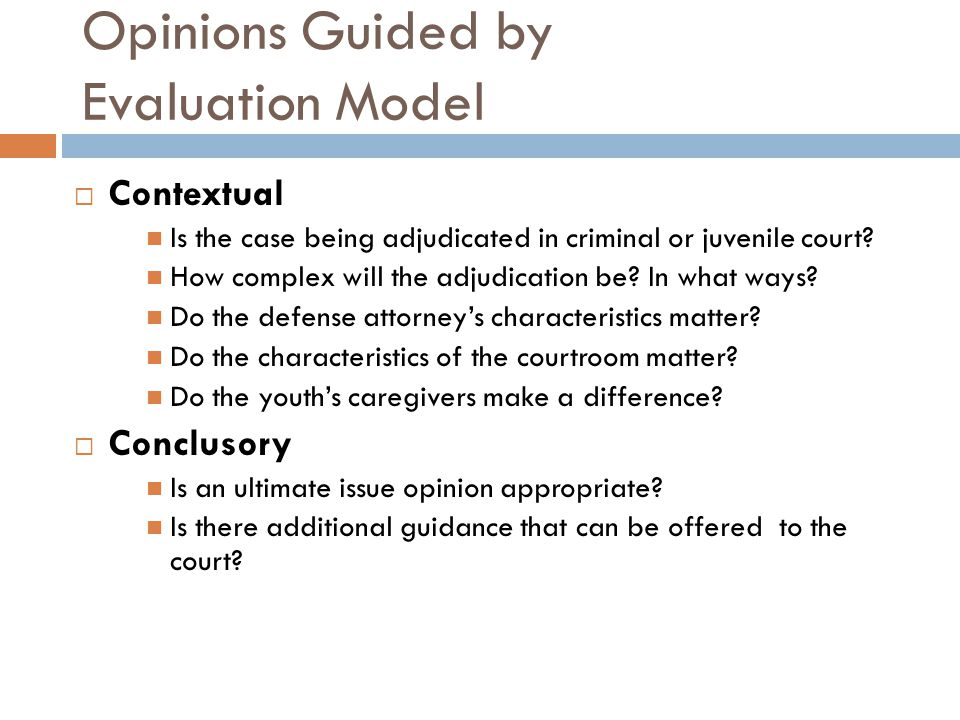 Opinions Guided by Evaluation Model