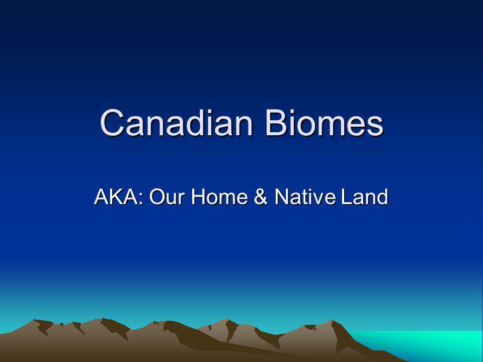 AKA: Our Home & Native Land
