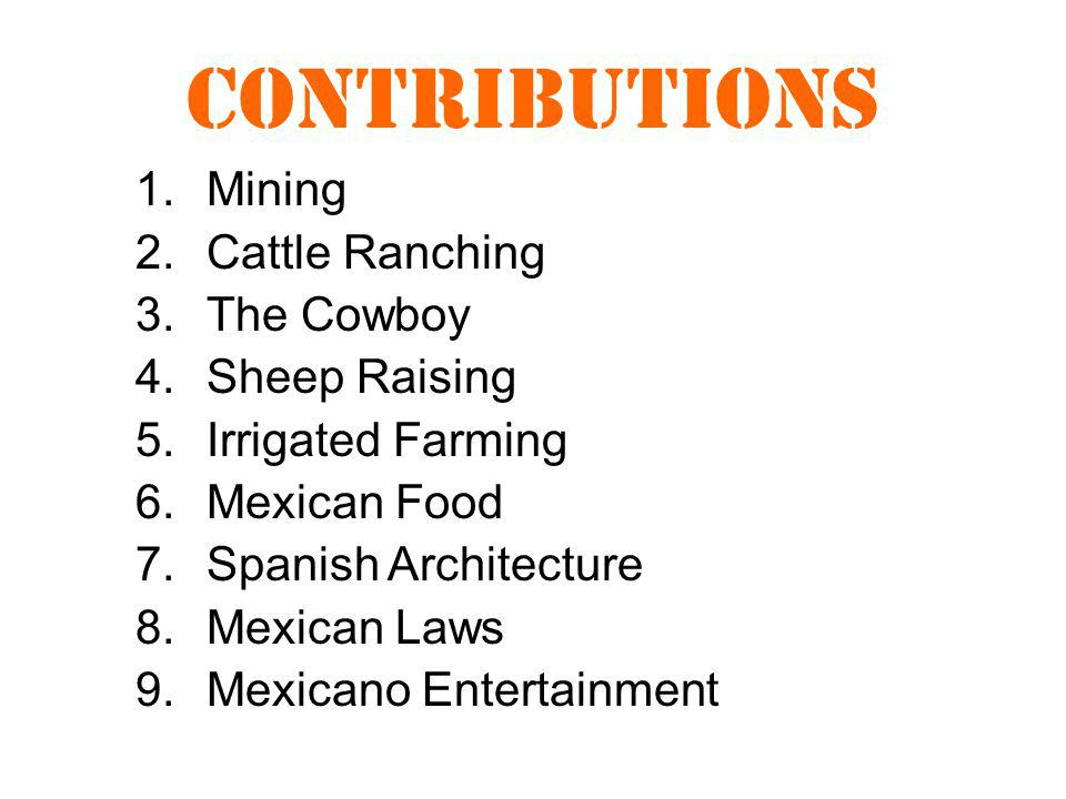 Contributions Mining Cattle Ranching The Cowboy Sheep Raising