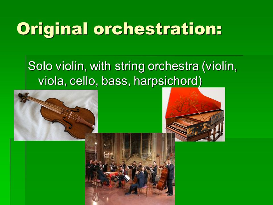 Original orchestration: