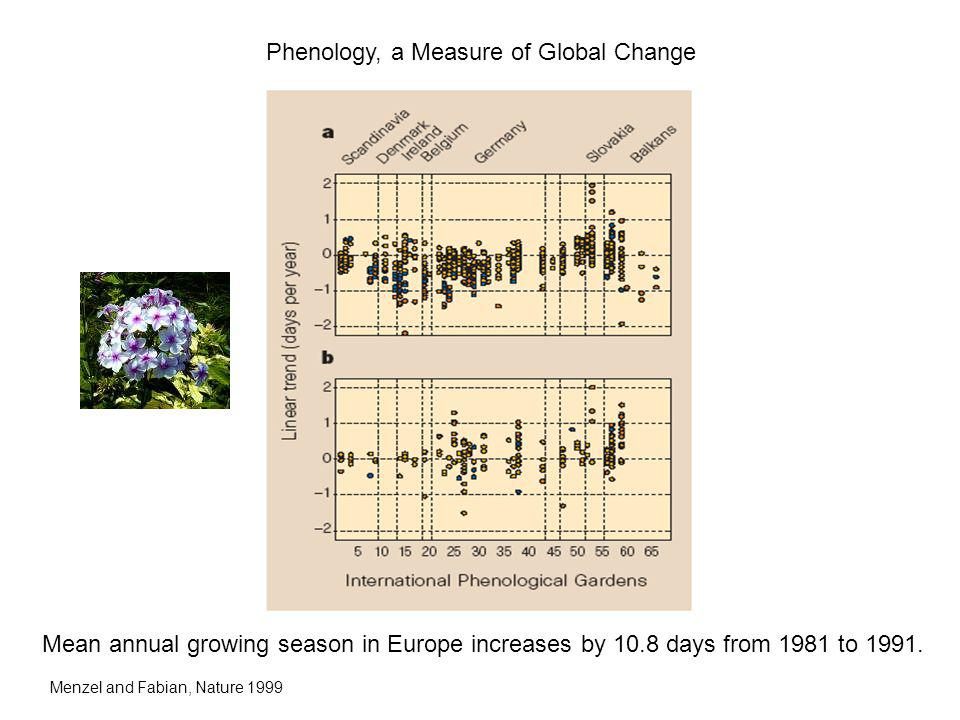 Phenology, a Measure of Global Change