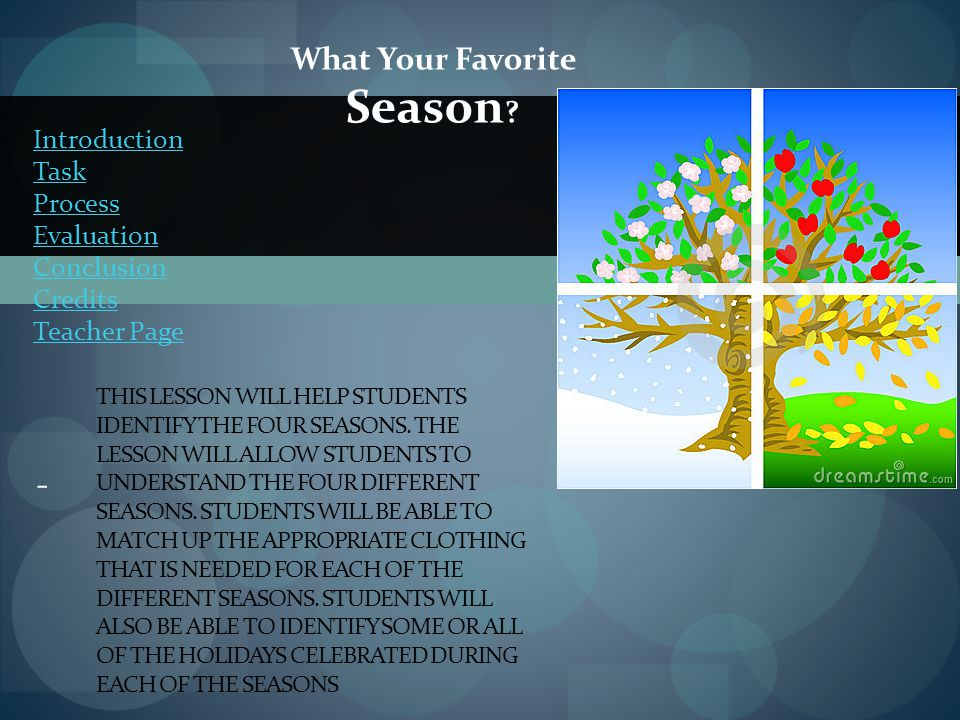 What Your Favorite Season