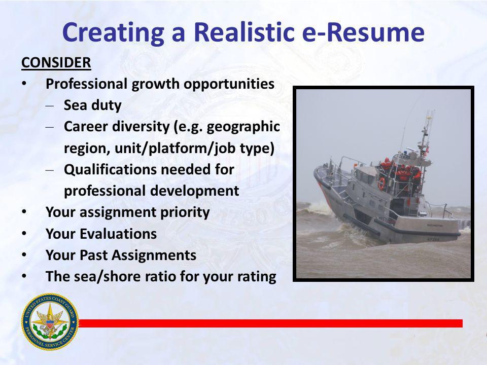 Creating a Realistic e-Resume