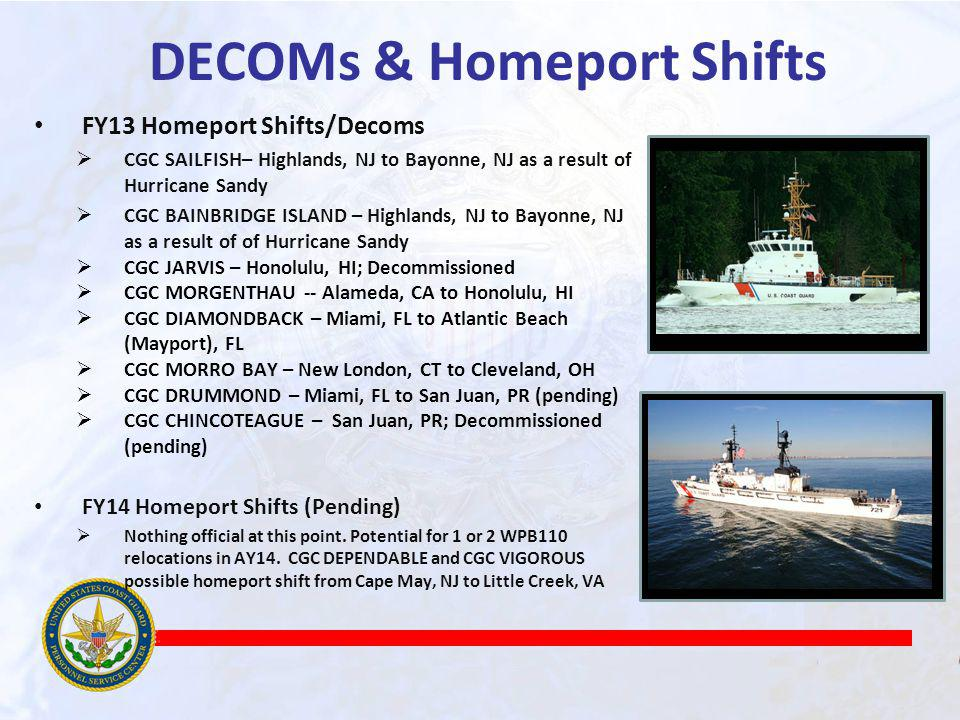 DECOMs & Homeport Shifts