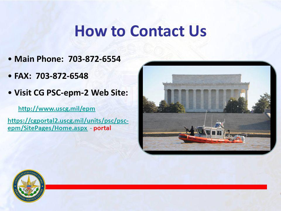How to Contact Us Main Phone: 703-872-6554 FAX: 703-872-6548