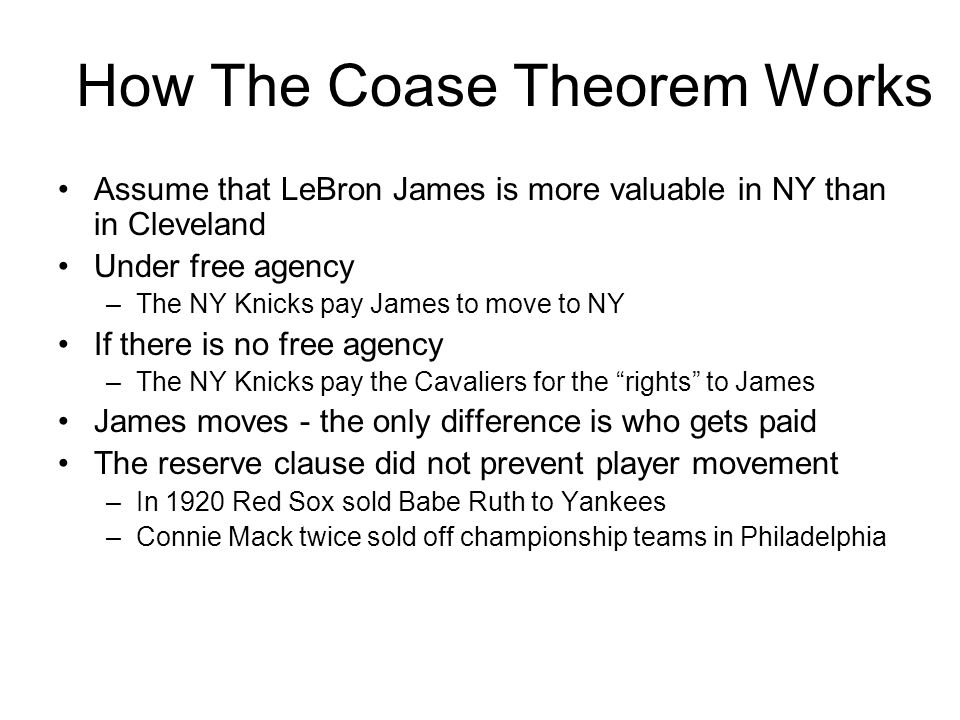 How The Coase Theorem Works