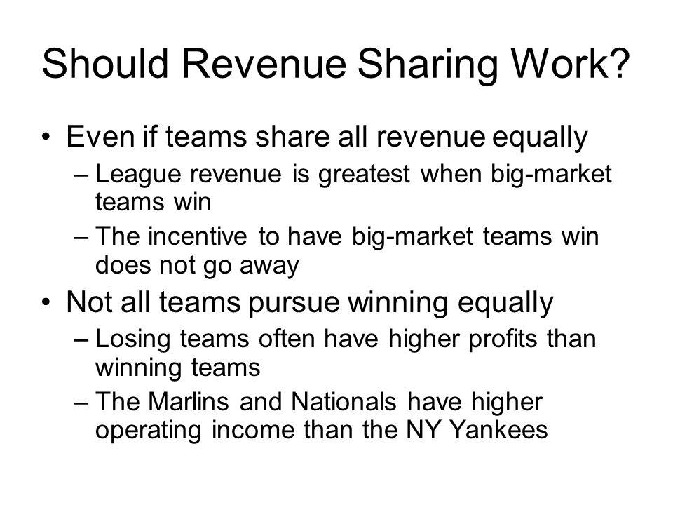 Should Revenue Sharing Work