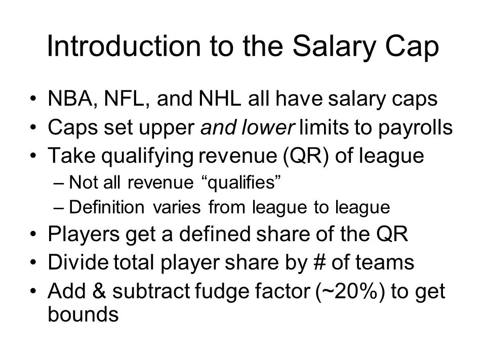 Introduction to the Salary Cap