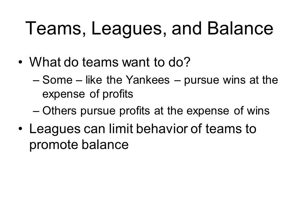 Teams, Leagues, and Balance