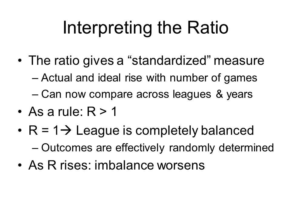 Interpreting the Ratio