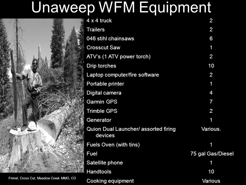 Unaweep WFM Equipment 4 x 4 truck 2 Trailers 046 stihl chainsaws 6