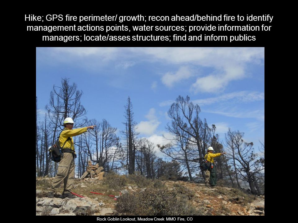Rock Goblin Lookout, Meadow Creek MMO Fire, CO