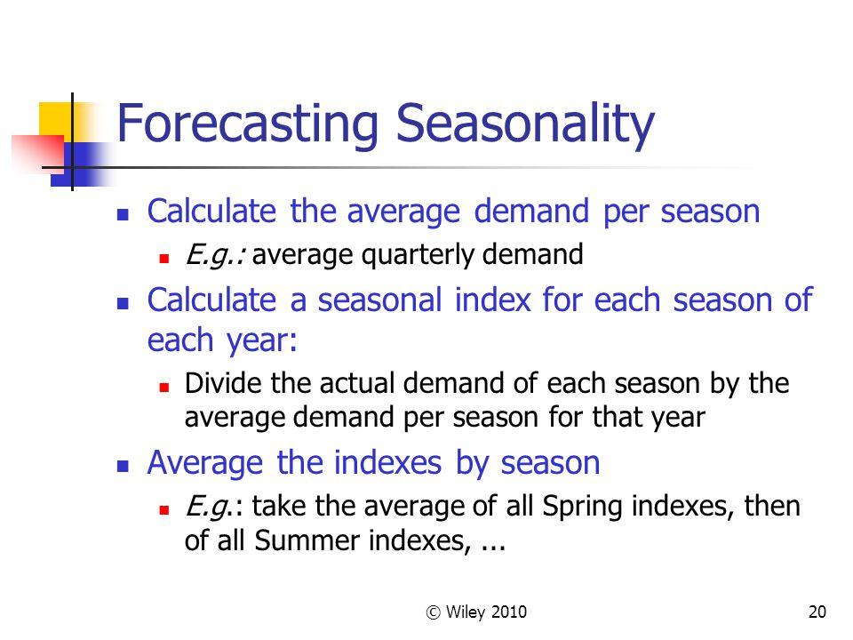 Forecasting Seasonality