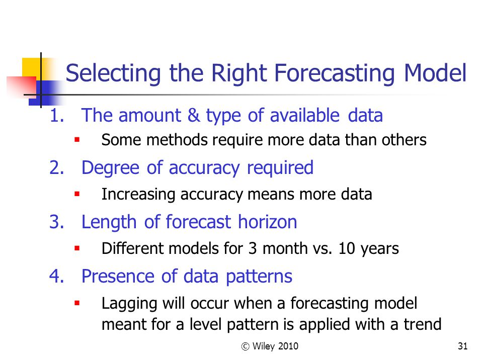Selecting the Right Forecasting Model