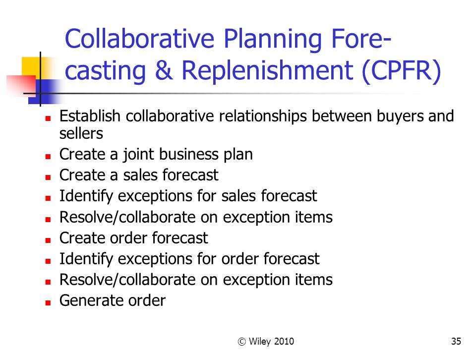 Collaborative Planning Fore-casting & Replenishment (CPFR)