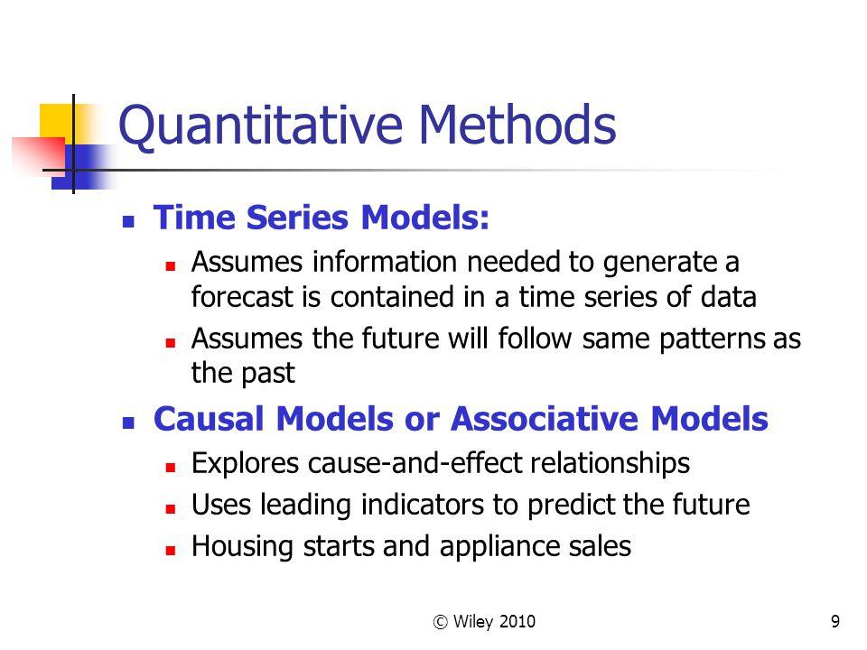 Quantitative Methods Time Series Models: