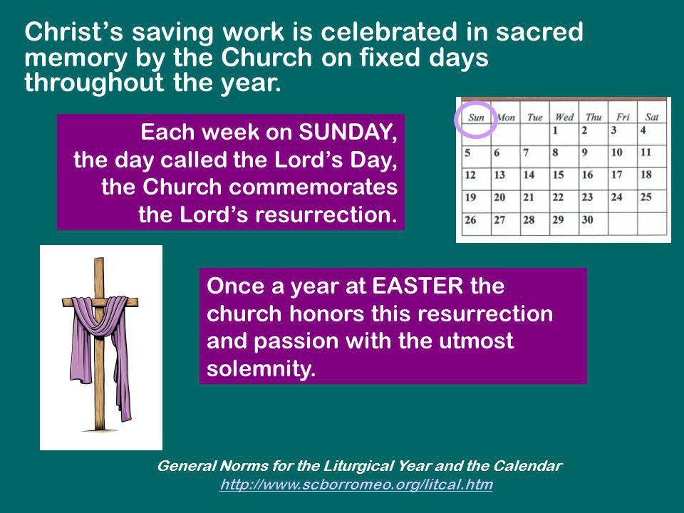 General Norms for the Liturgical Year and the Calendar