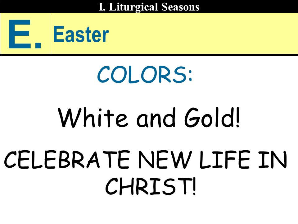 CELEBRATE NEW LIFE IN CHRIST!