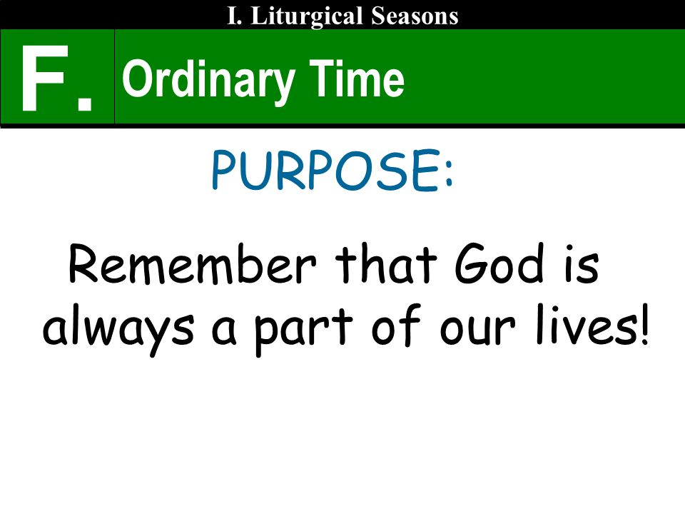 Remember that God is always a part of our lives!