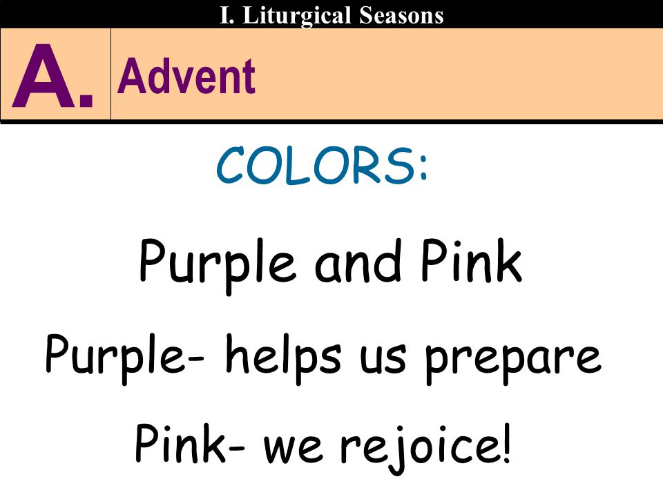 Purple- helps us prepare