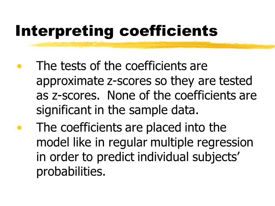 Interpreting coefficients