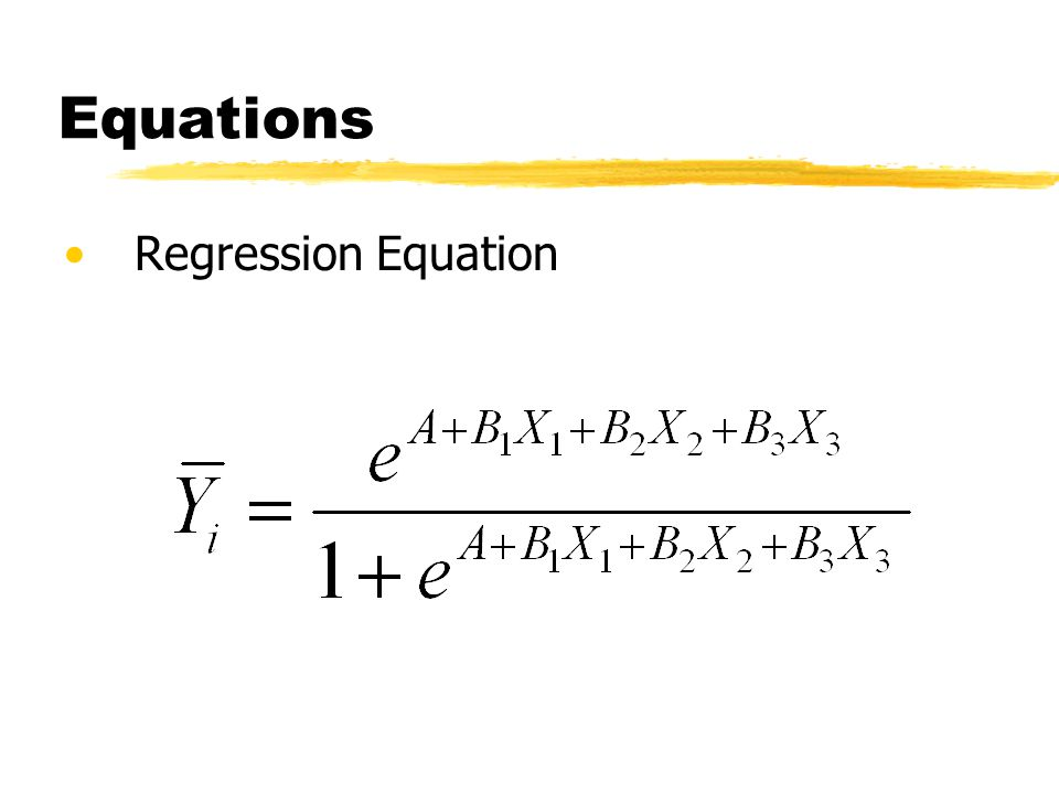 Equations Regression Equation