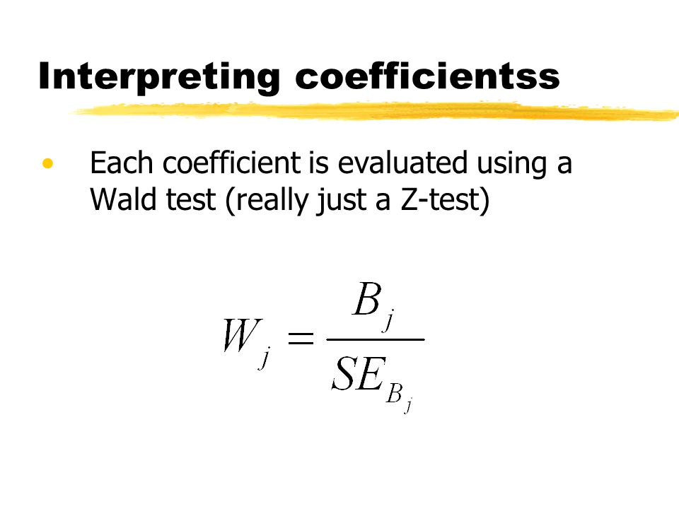 Interpreting coefficientss