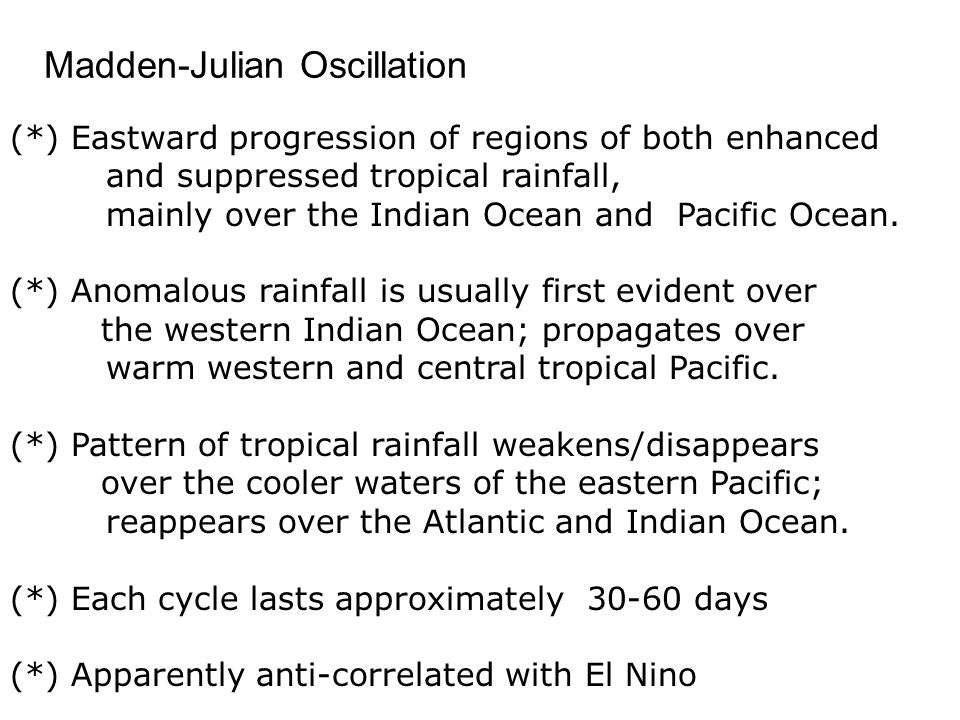Madden-Julian Oscillation