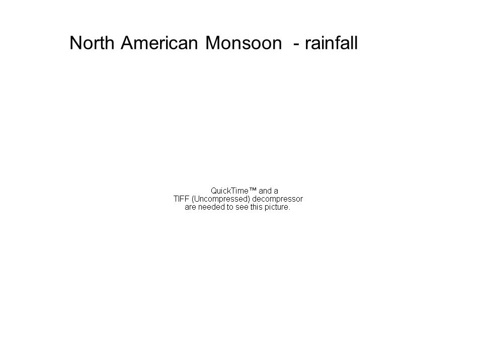 North American Monsoon - rainfall