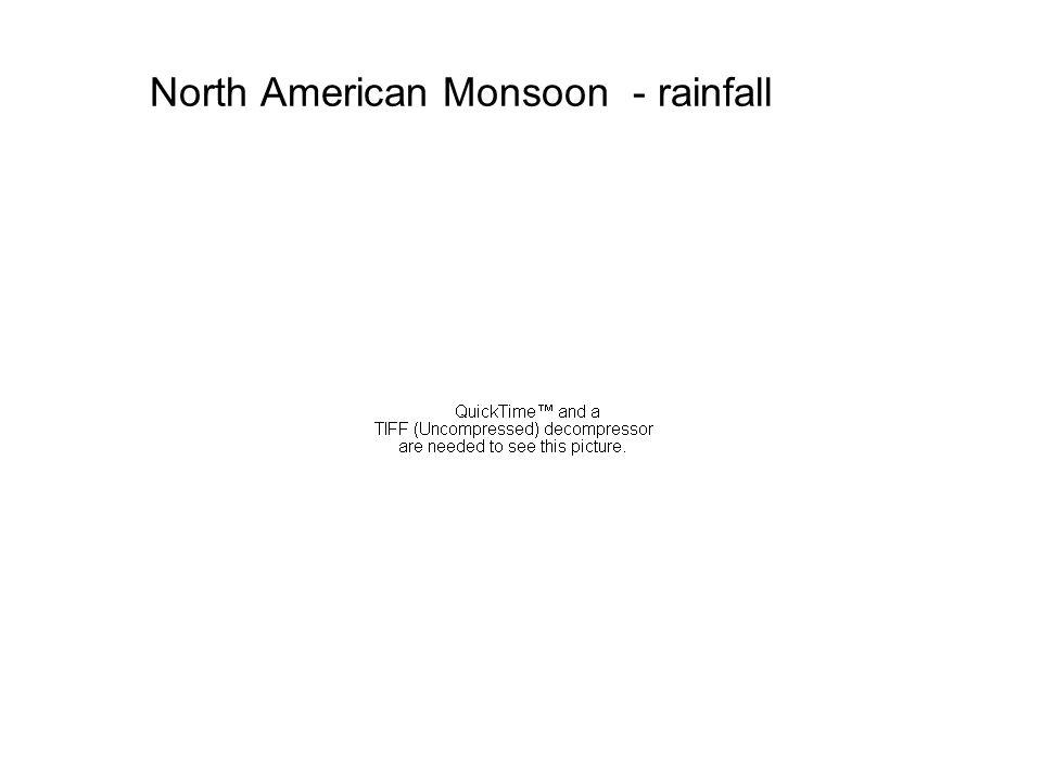 North American Monsoon - rainfall
