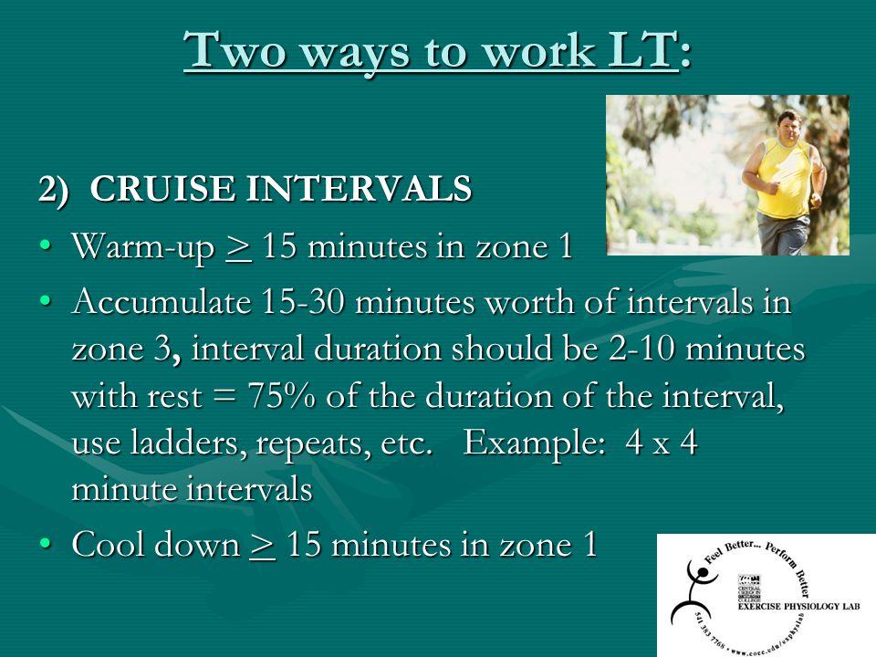 Two ways to work LT: 2) CRUISE INTERVALS