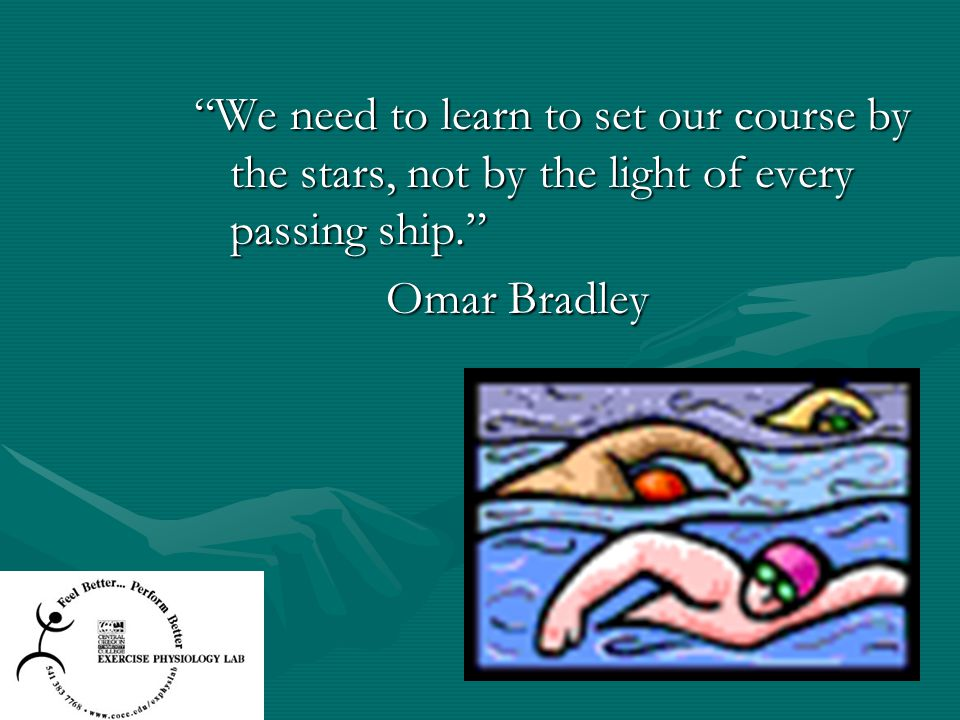 We need to learn to set our course by the stars, not by the light of every passing ship.