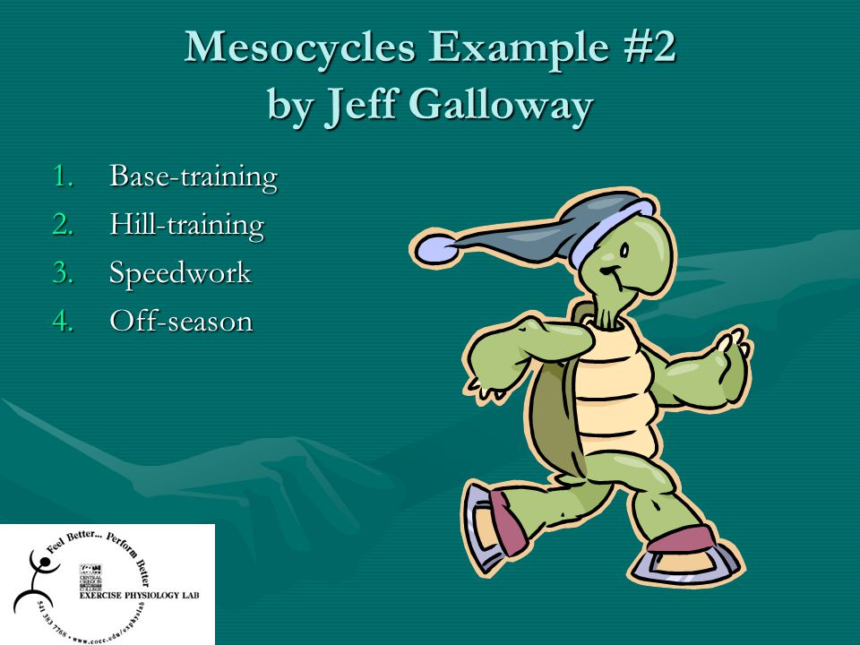 Mesocycles Example #2 by Jeff Galloway