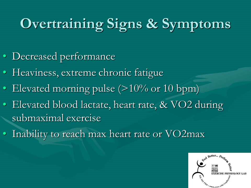 Overtraining Signs & Symptoms