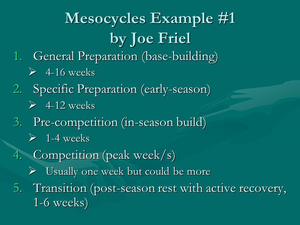 Mesocycles Example #1 by Joe Friel