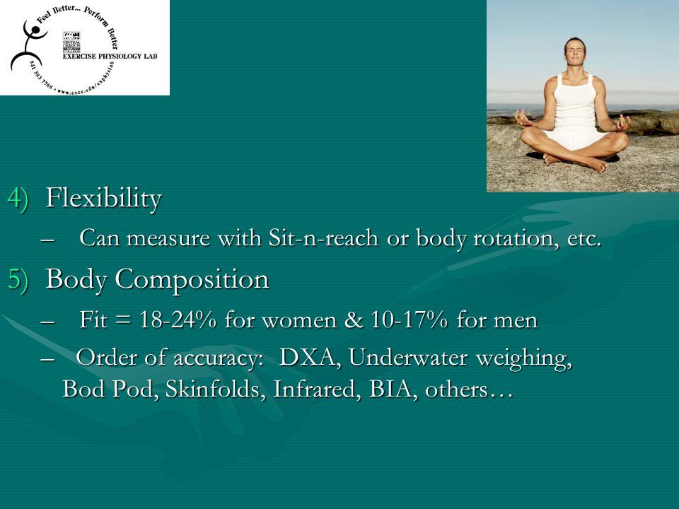 Flexibility Body Composition