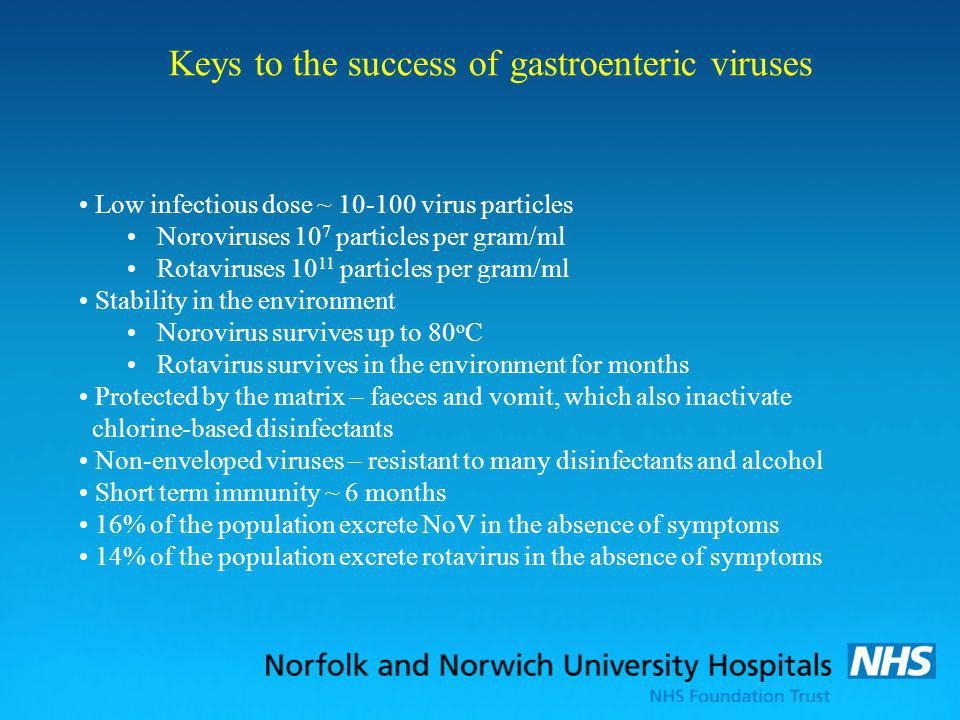 Keys to the success of gastroenteric viruses