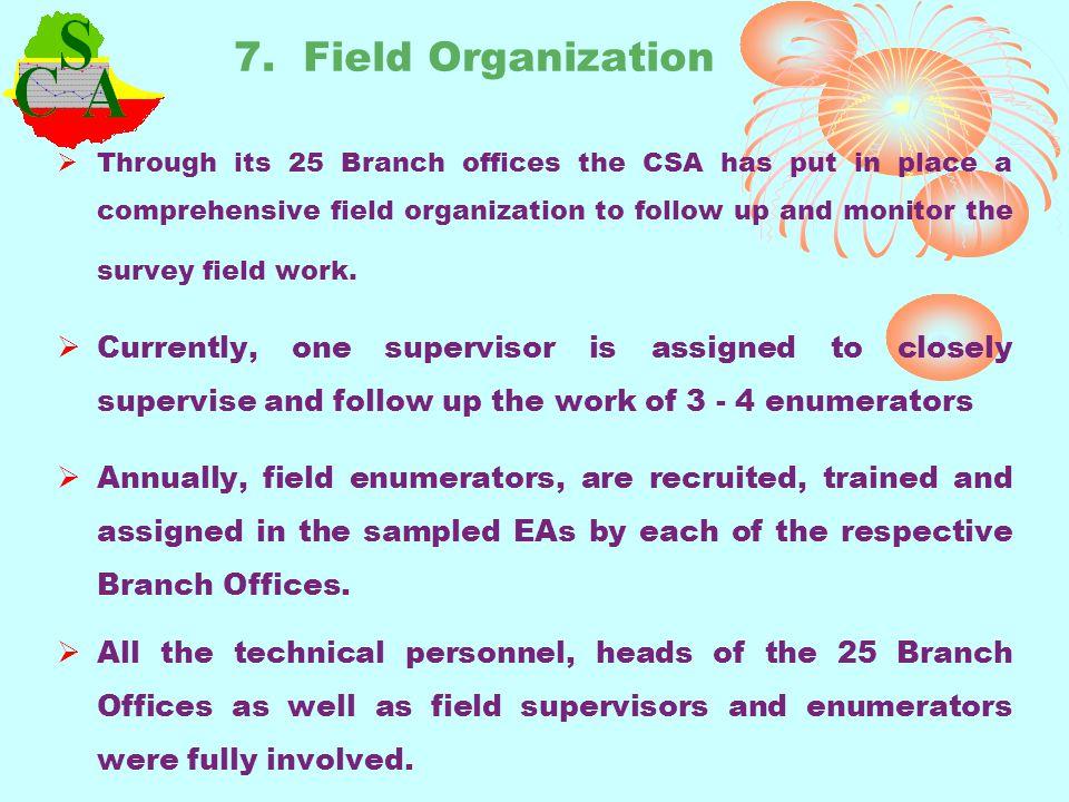 7. Field Organization