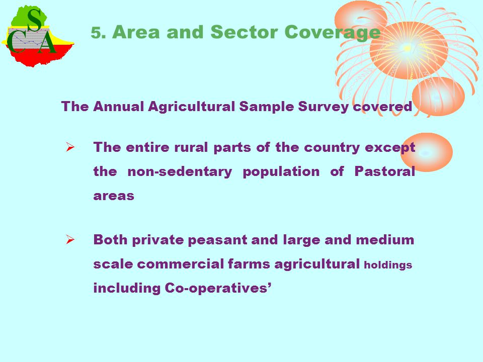 5. Area and Sector Coverage