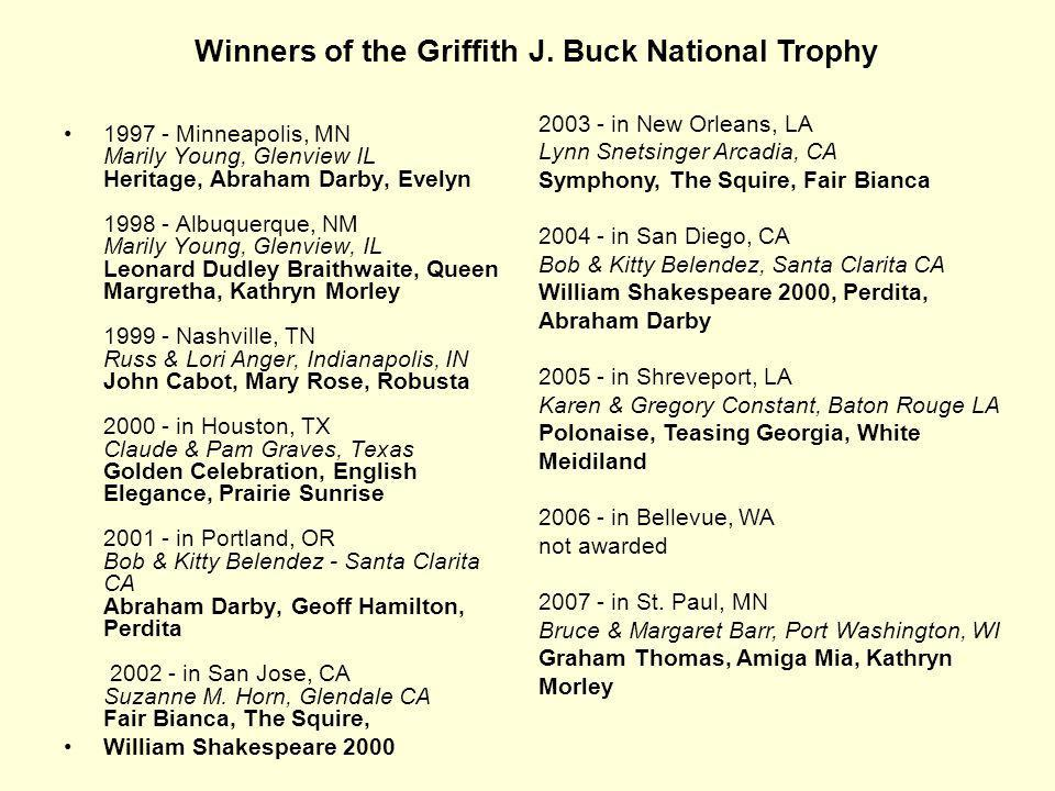 Winners of the Griffith J. Buck National Trophy