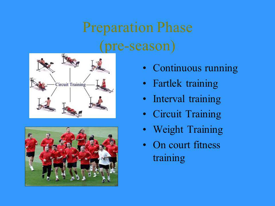 Preparation Phase (pre-season)