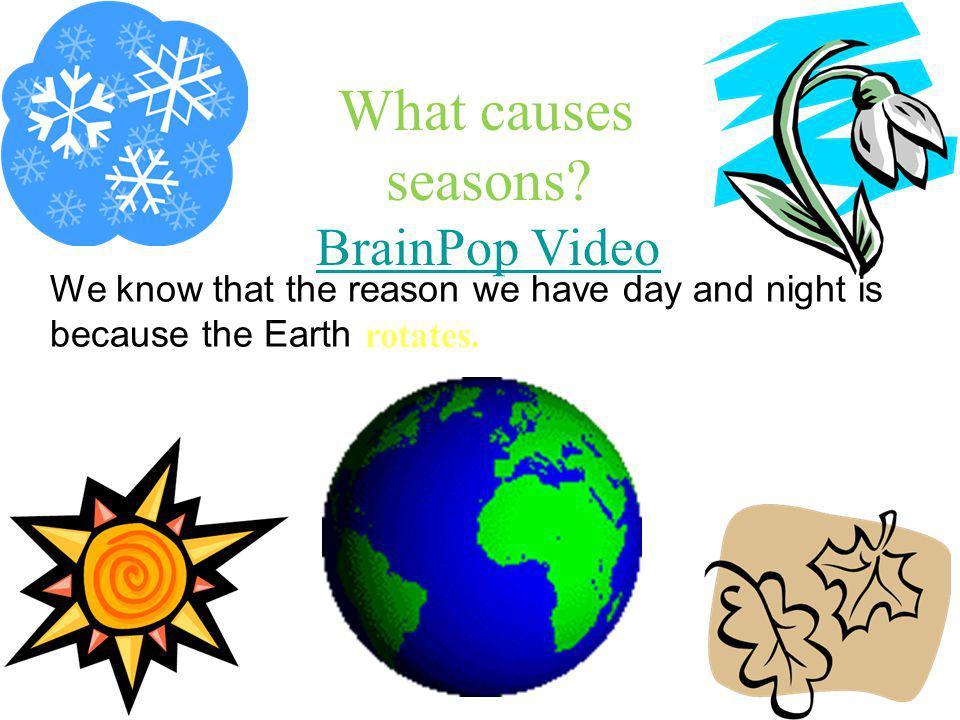 What causes seasons BrainPop Video
