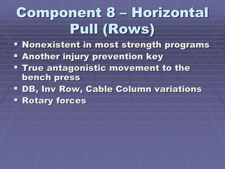 Component 8 – Horizontal Pull (Rows)