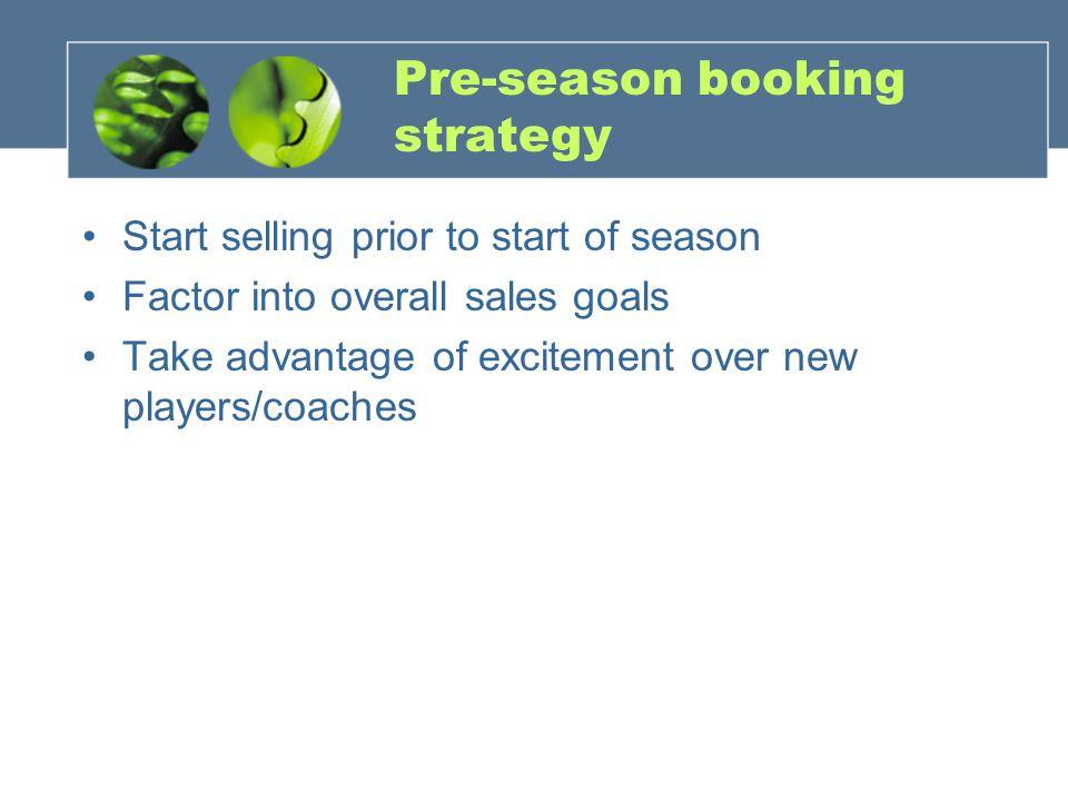 Pre-season booking strategy