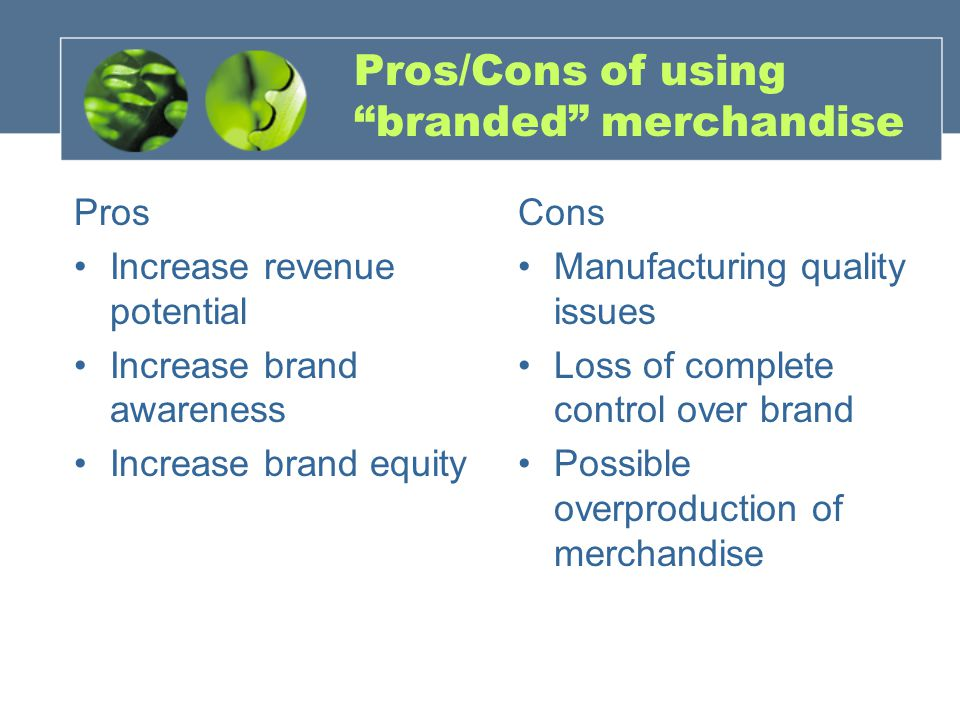 Pros/Cons of using branded merchandise