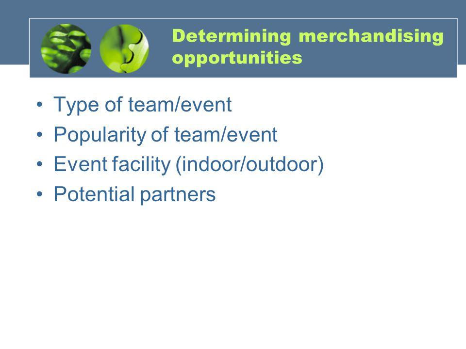 Determining merchandising opportunities