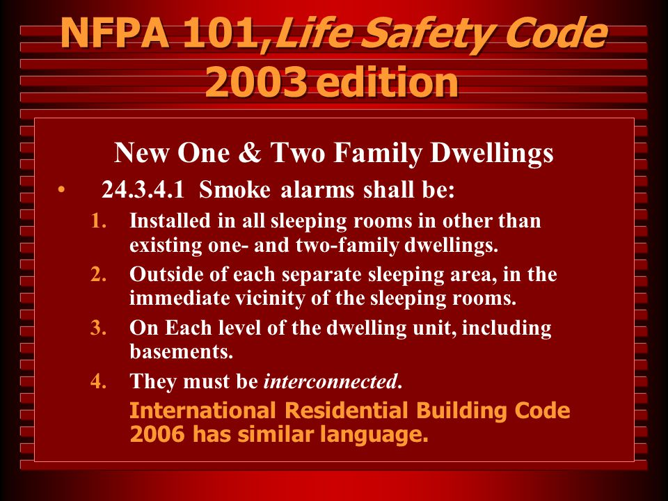 NFPA 101,Life Safety Code 2003 edition