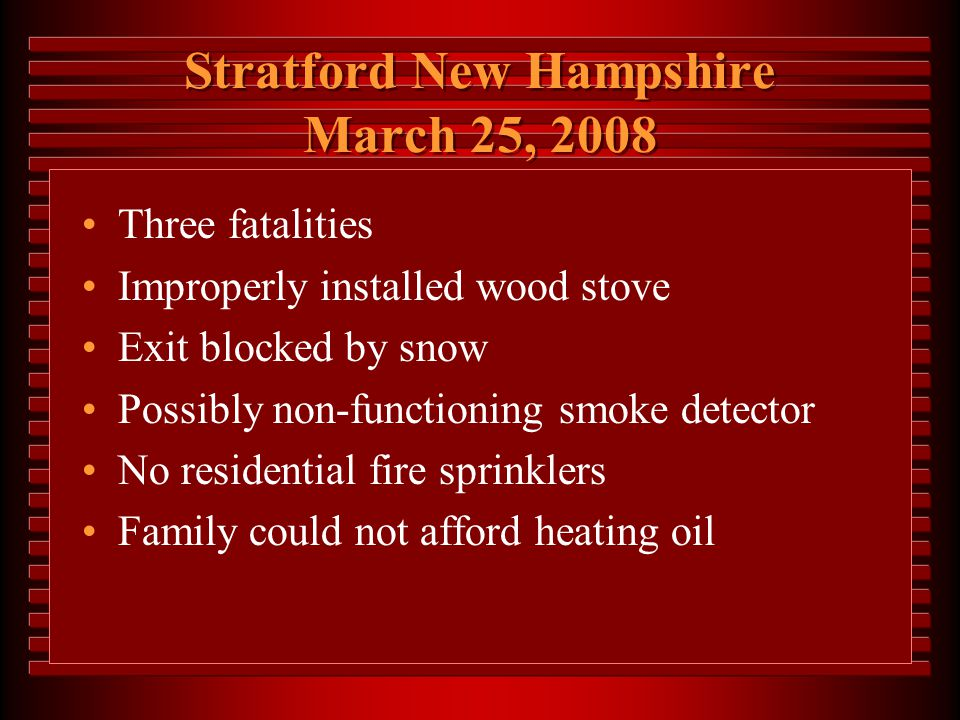 Stratford New Hampshire March 25, 2008